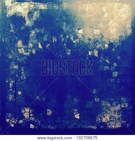 Vintage style designed background, scratched grungy texture with different color patterns: yellow (beige); brown; blue; gray; cyan