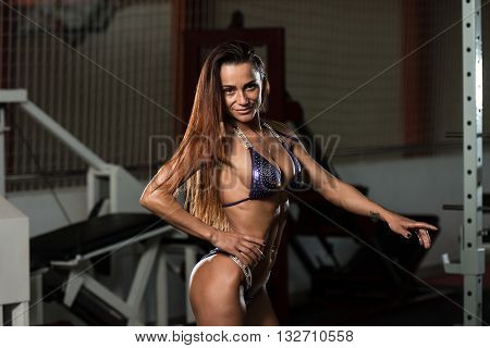 Beautiful Fit Woman Posing In Laundry