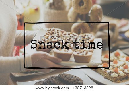 Snack Time Food Meal Treat Concept