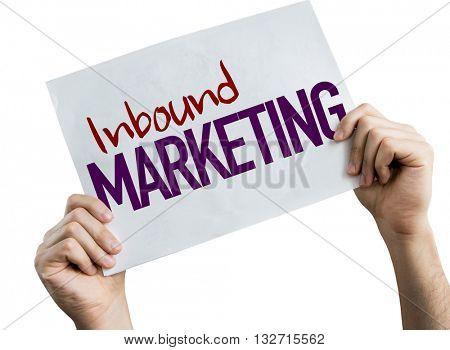 Inbound Marketing placard isolated on white background
