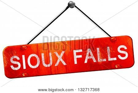 sioux falls, 3D rendering, a red hanging sign