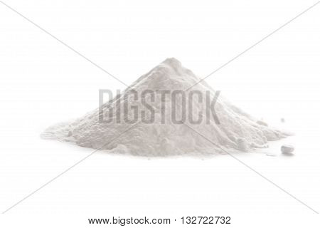 Baking soda Sodium bicarbonate isolated on white background NaHCO3