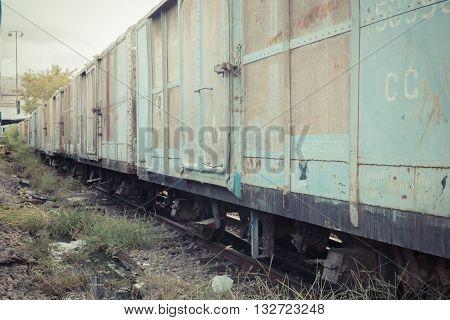 Between Bogie Of Thai Train