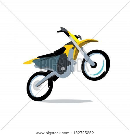 Motocross off-road driving Isolated on a White Background