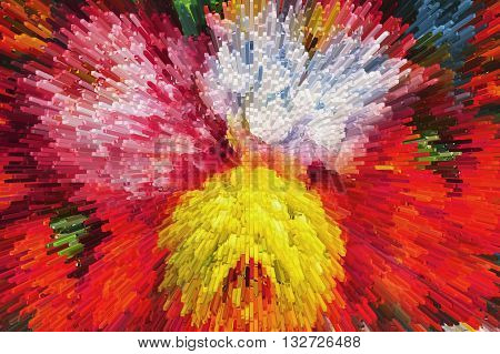 Color Texture Background, Abstract ,color Extrusion  Blocks And Pyramids,  Abstract Colorful 3D Extr