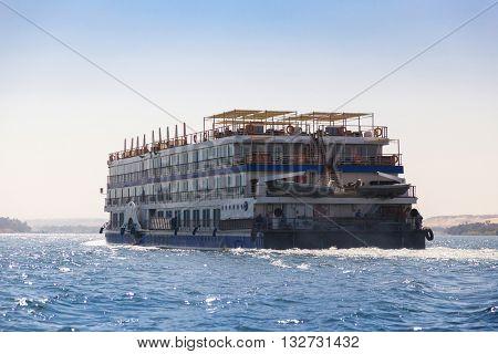 Cruiser ship on the Nile, Egypt.
