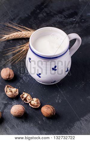 Milk And Walnuts