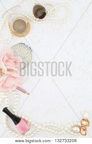 Feminine beauty background - pastel color palette