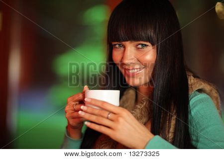 Beautiful Woman Drinking Tea