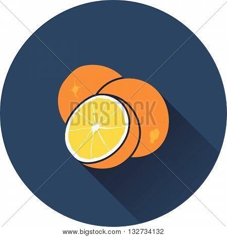 Orange icon. Flat design ui colors. Vector illustration.