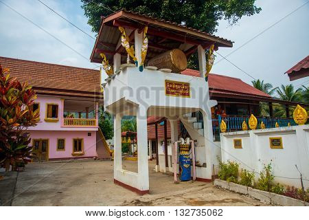 A Small Buddhist Temple With Gold. Laos, Muang Choi.