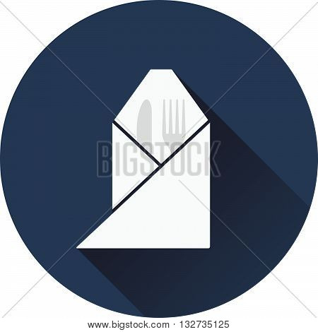 Fork And Knife Wrapped Napkin Icon