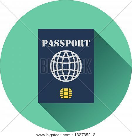 Passport With Chip Icon