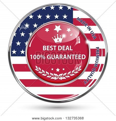Best deal, 100% Guaranteed. Made in Usa , premium quality - button / icon / sign for retail industry, for products form United States of America