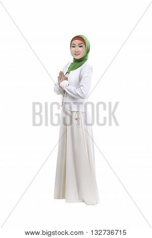 Young Muslim Woman Smiling