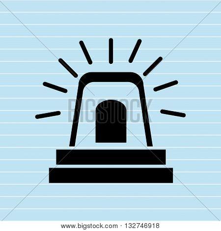 alarm light  design, vector illustration eps10 graphic