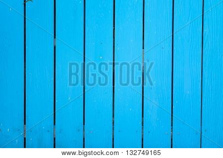 Textured wood planks painted in blue background