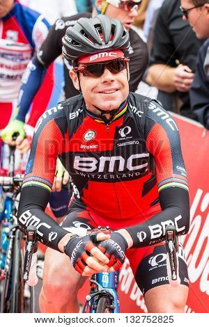 MELBOURNE, AUSTRALIA - FEBRUARY 1: Cadel Evans on the start line at the inaugral Cadel Evans Great Ocean Road Race