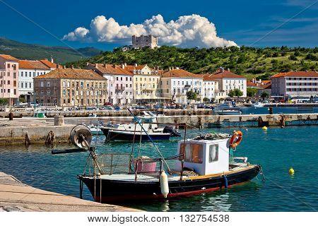 Senj idyllic mediterranean waterfront view Primorje region of Croatia