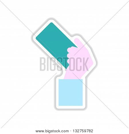 paper sticker on white  background football referee Card