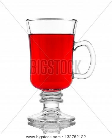 Glass Of Red Mulled Wine, Isolated