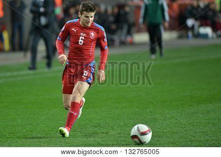 PRAGUE 28/03/2015 _ Vaclav Pilar of Czech Republic. Match of EURO 2016 qualification group A Czech Republic - Latvia 1:1 (0:1). Goals 90' Pilař - 30' Višnakovs.