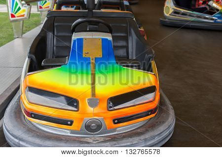 image of electric cars in an amusement park