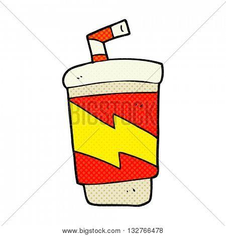 freehand drawn cartoon soda drink