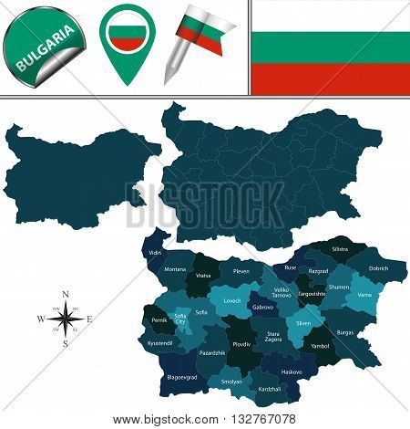 Map Of Bulgaria With Named Provinces