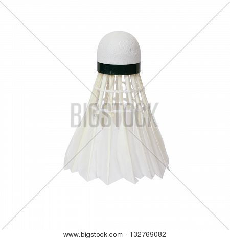 shuttlecock isolated on a white color background