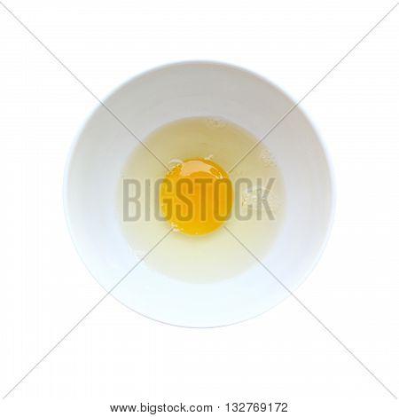 Egg yolk  isolated on white color background