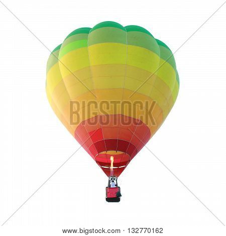 Hot air balloon isolated on white color background
