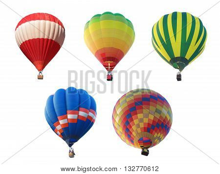 hot air balloon collections isolated on white background