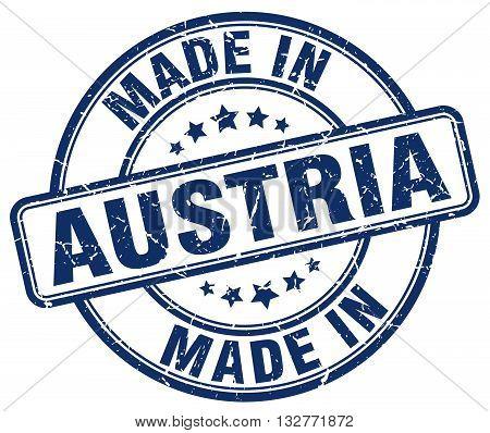 made in Austria blue round vintage stamp.Austria stamp.Austria seal.Austria tag.Austria.Austria sign.Austria.Austria label.stamp.made.in.made in.