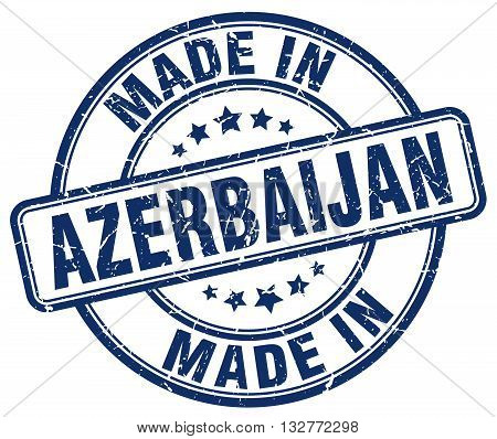 made in Azerbaijan blue round vintage stamp.Azerbaijan stamp.Azerbaijan seal.Azerbaijan tag.Azerbaijan.Azerbaijan sign.Azerbaijan.Azerbaijan label.stamp.made.in.made in.