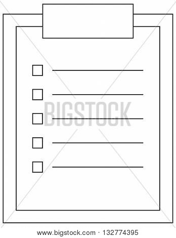 outline icon of clipboard document sheet contract