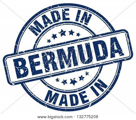 made in Bermuda blue round vintage stamp.Bermuda stamp.Bermuda seal.Bermuda tag.Bermuda.Bermuda sign.Bermuda.Bermuda label.stamp.made.in.made in.