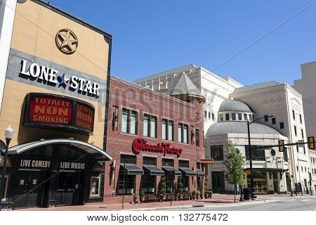 FORT WORTH USA - APR 6: The Palace Theater Block buildings downtown in Fort Worth. April 6 2016 in Fort Worth Texas USA