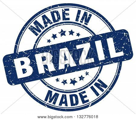 made in Brazil blue round vintage stamp.Brazil stamp.Brazil seal.Brazil tag.Brazil.Brazil sign.