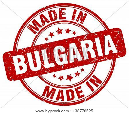 made in Bulgaria red round vintage stamp.Bulgaria stamp.Bulgaria seal.Bulgaria tag.Bulgaria.Bulgaria sign.Bulgaria.Bulgaria label.stamp.made.in.made in.