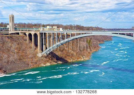 International Rainbow Bridge Over Niagara River Gorge