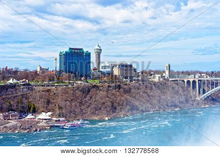 Rainbow Bridge Across The Niagara River Gorge