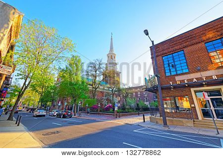 Street View On Independence Hall In Philadelphia Pa