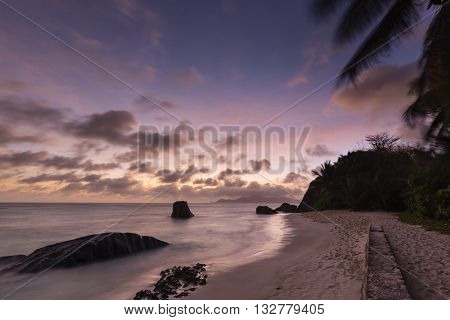 Tropical Beach Sunset, Seychelles