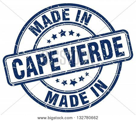 made in Cape Verde blue round vintage stamp.Cape Verde stamp.Cape Verde seal.Cape Verde tag.Cape Verde.Cape Verde sign.Cape.Verde.Cape Verde label.stamp.made.in.made in.