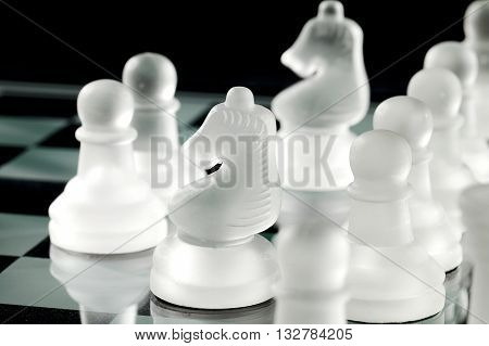 Chess Pawn And Chess Knight On Board
