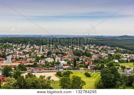 View Of The Town Of Olsztyn Near Czestochowa In Poland.