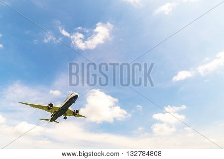 KUALA LUMPUR MALAYSIA - MAY 29 2016 : Photo of a British Airways Airbus shown approaching to Kuala Lumpur International Airport in late afternoon.