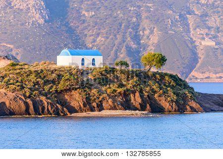 A little island Kastri near Kos island, Dodecanese, Greece.