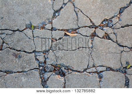 concrete cement old and dirty floor with crack